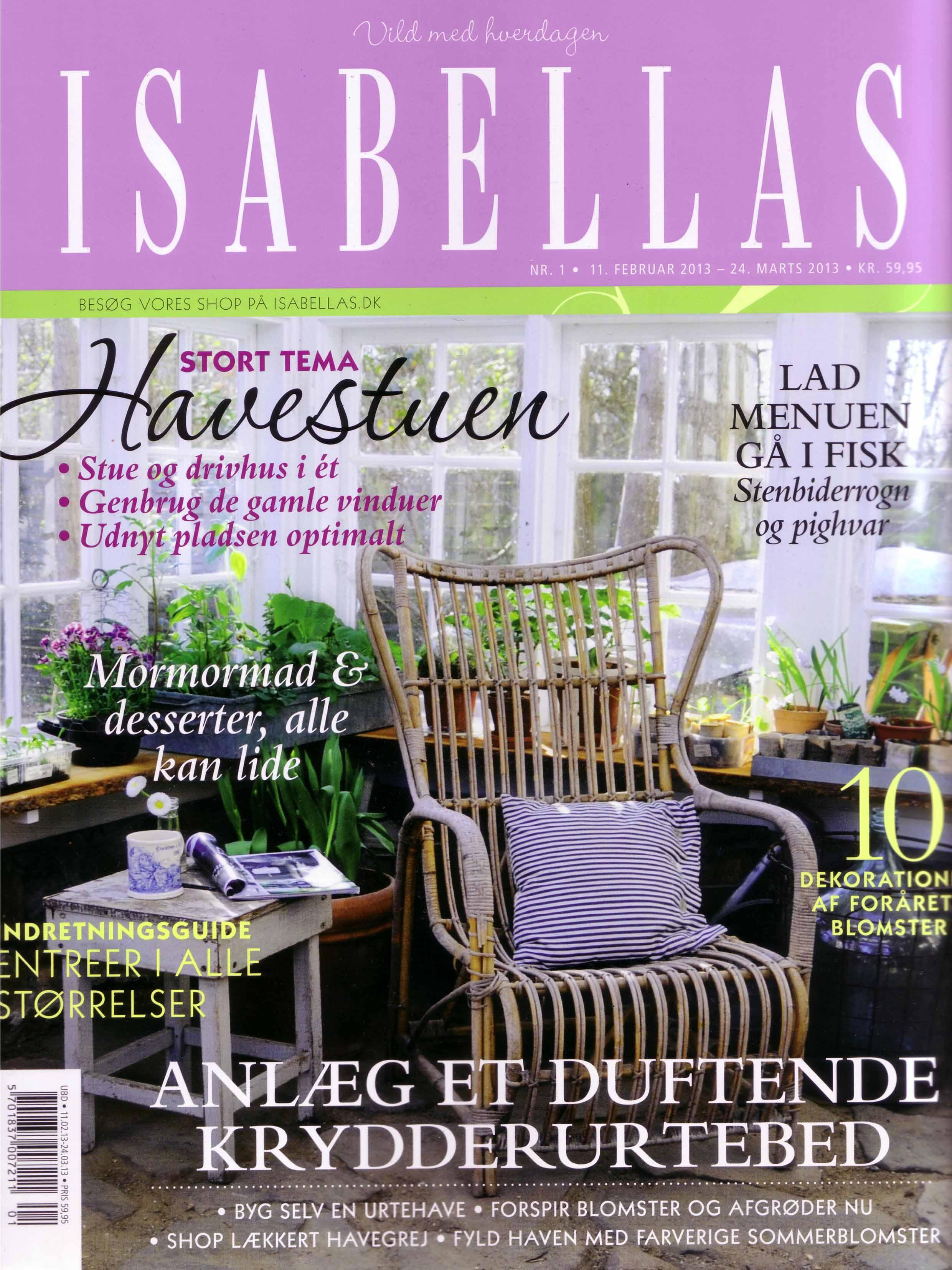 Forside på Isabellas nr. 1 2013