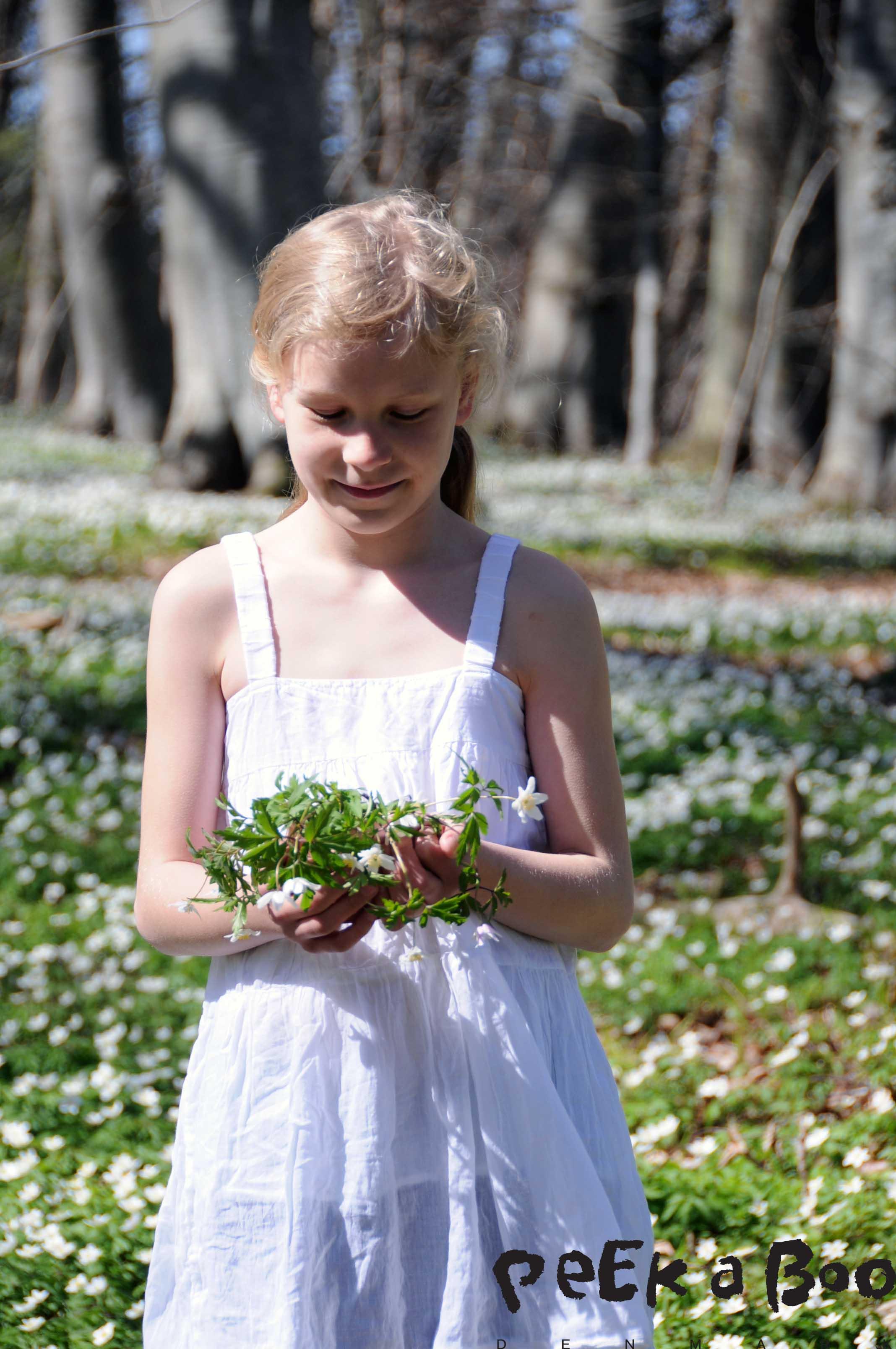 Ella and the anemones.