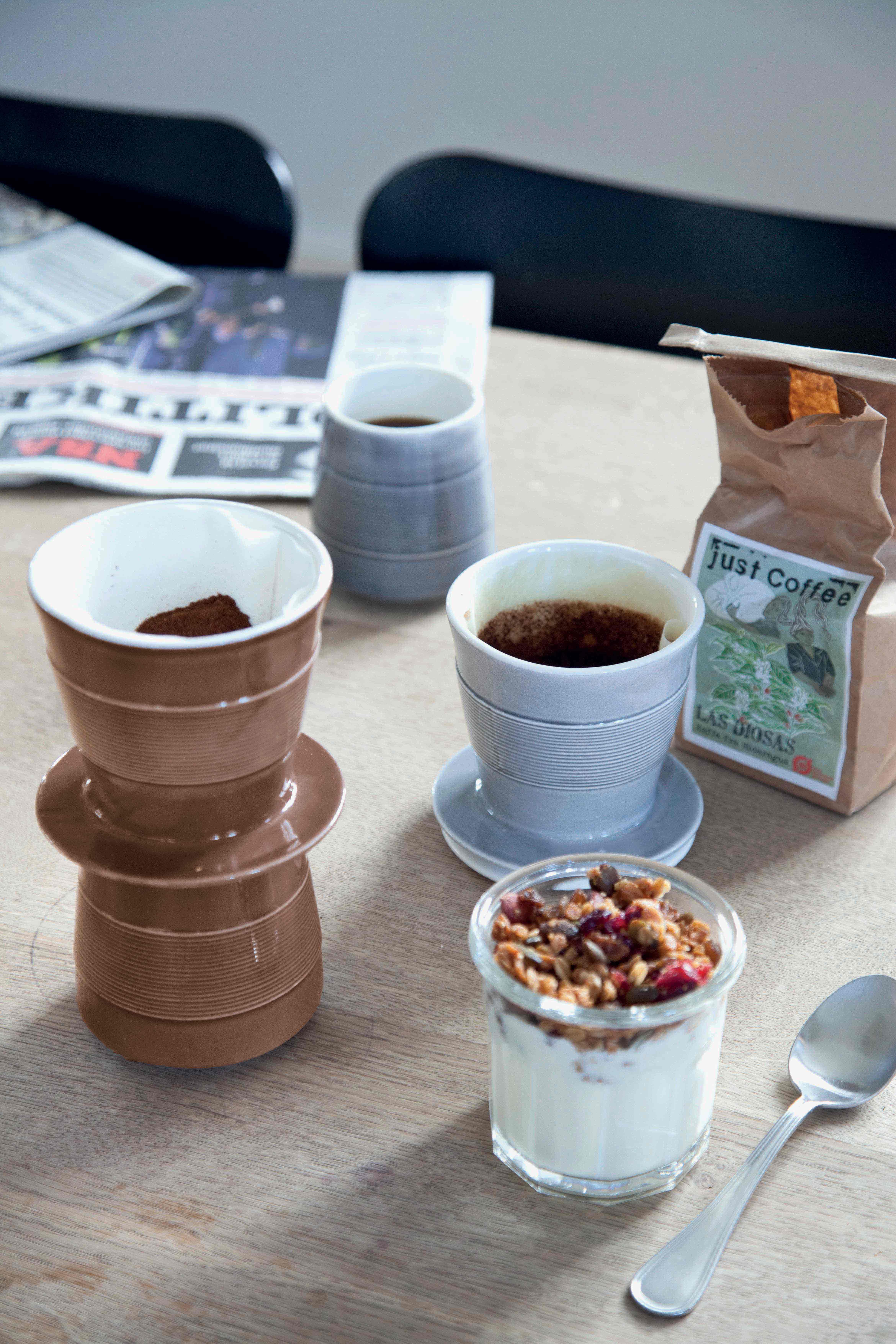 Super fin kaffebrygger i lækre farver fra Kähler design.