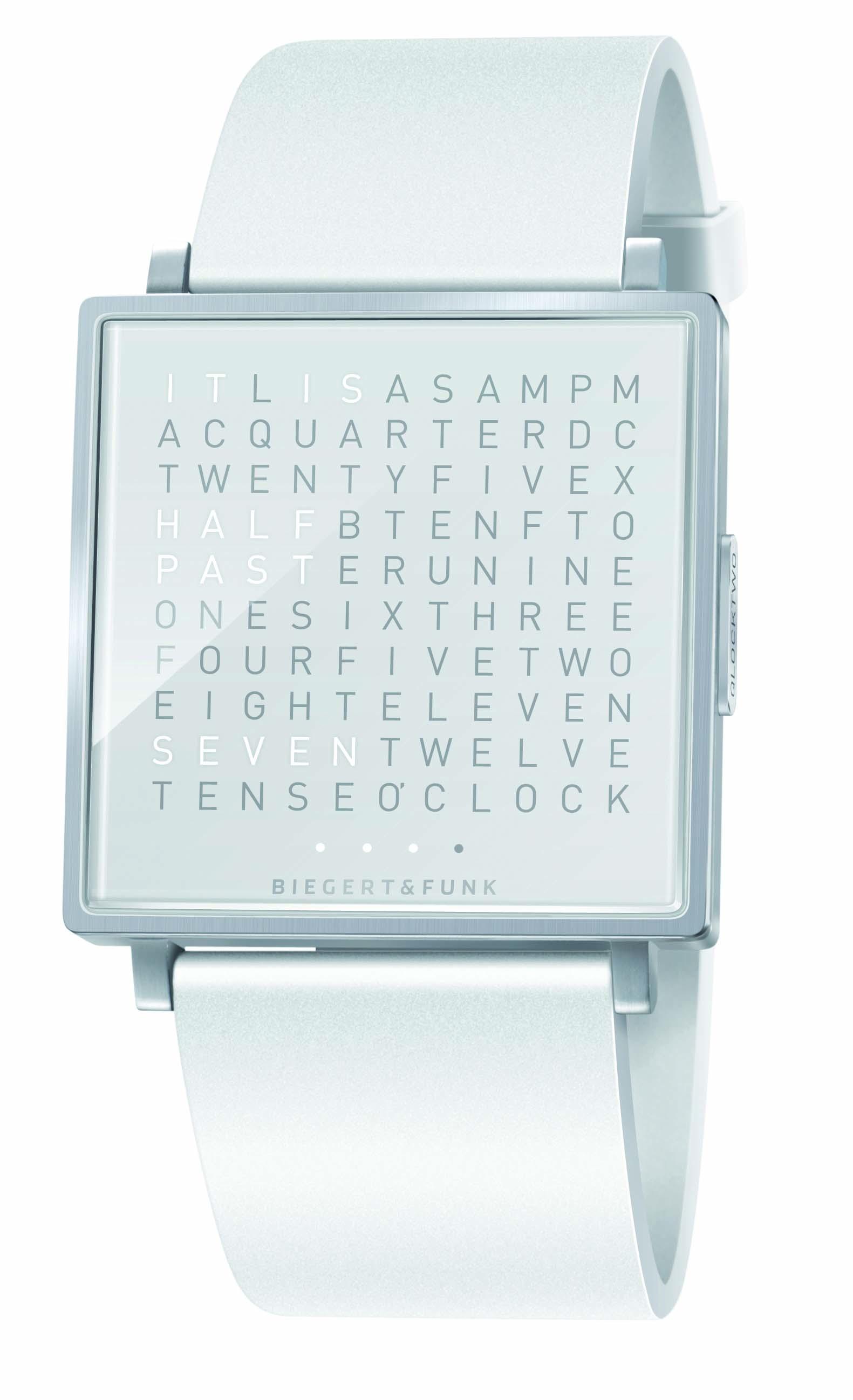 Qlocktwo hvor du får skrevet tiden...på 5 forskellige sprog...jeg er solgt.