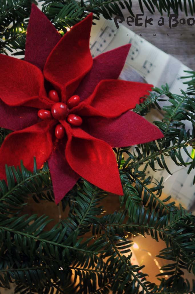 Filt julestjerne by Peekaboo design.