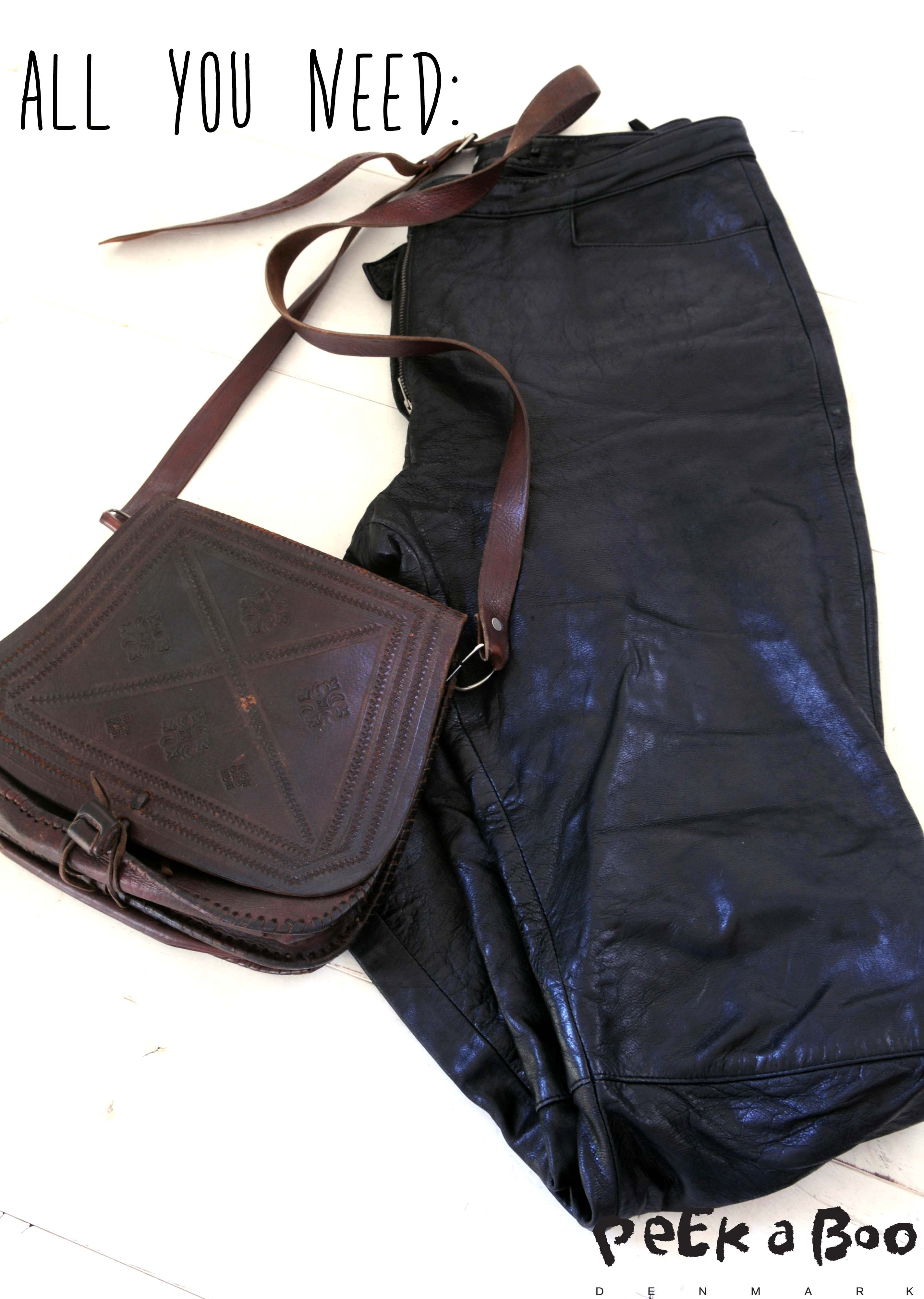 2-hand leather pants.