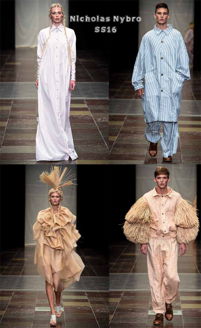 Nicholas Nybro's SS16 Collection shown at the Cityhall in Copenhagen during the fashionweek.