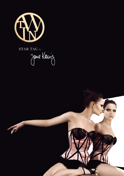 This is the startag for Twin/Gemini from the Danish jewelery designer Jane Kønig.