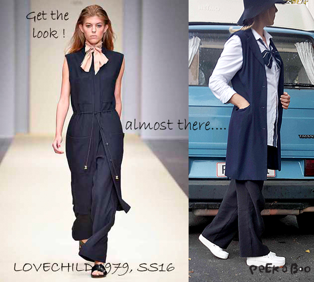 Get the look...re-design your vintage blazer to a new long waistcoat.
