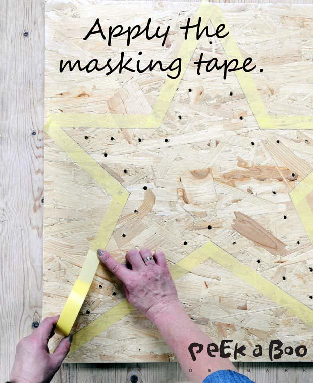 Apply the tesa masking tape.