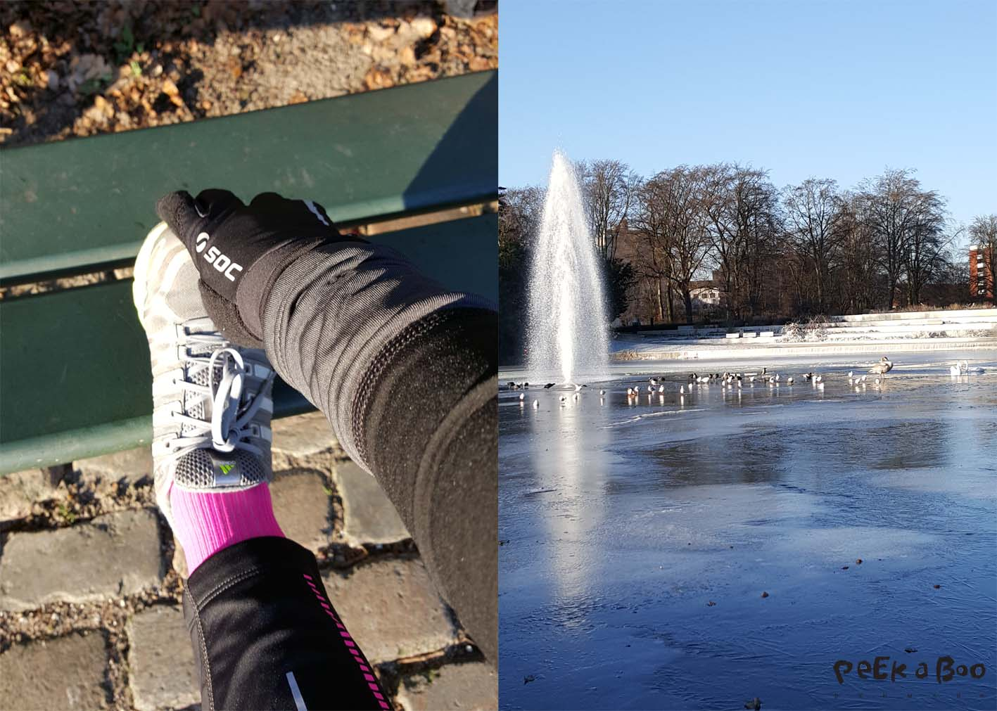 Cold condition in Copenhagen. But beautiful weather for a run in the park.
