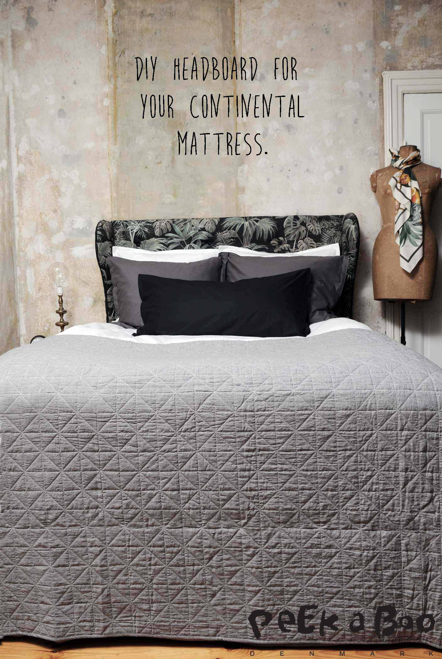 DIY Headboard to frame your mattress. Make your bed like on the finest hotels.