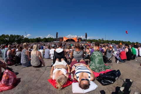 Roskilde Festival by the orange stage.