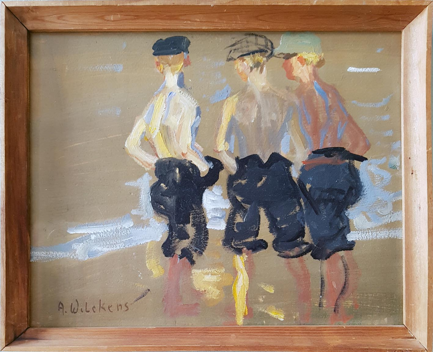 Another painter from Fanoe is August G C Wilckens, who painted these boys.