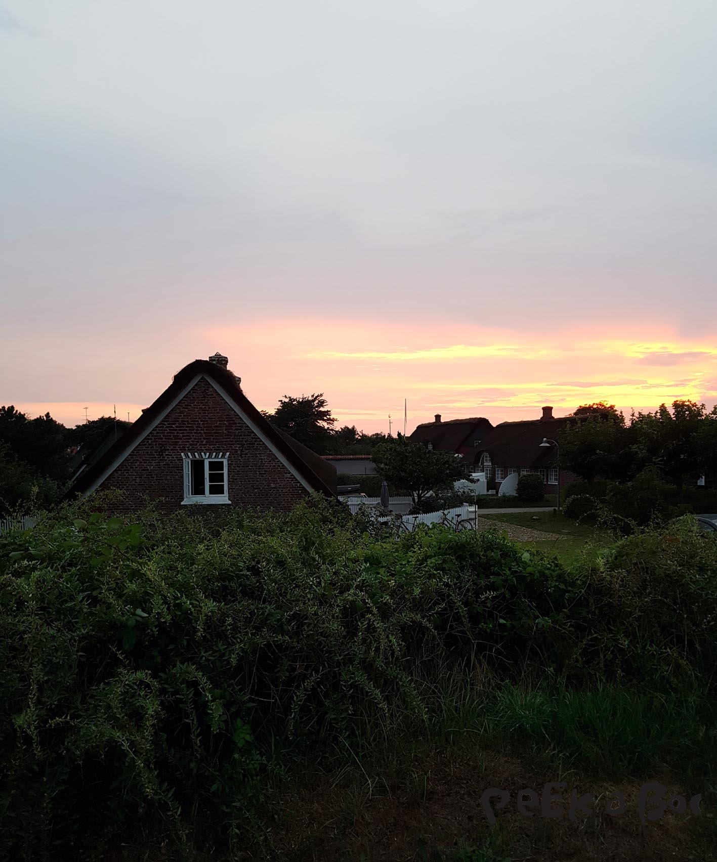 sunset over Sønderho inn