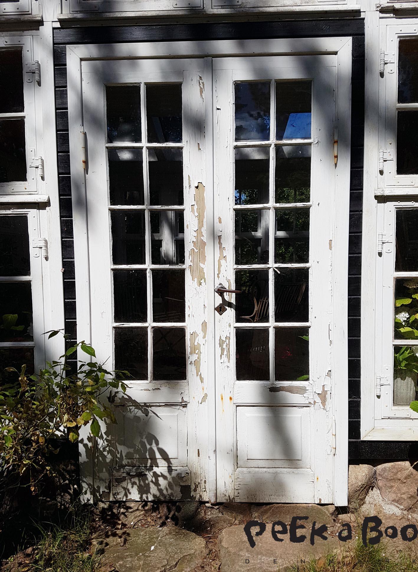 The door before the restoration.