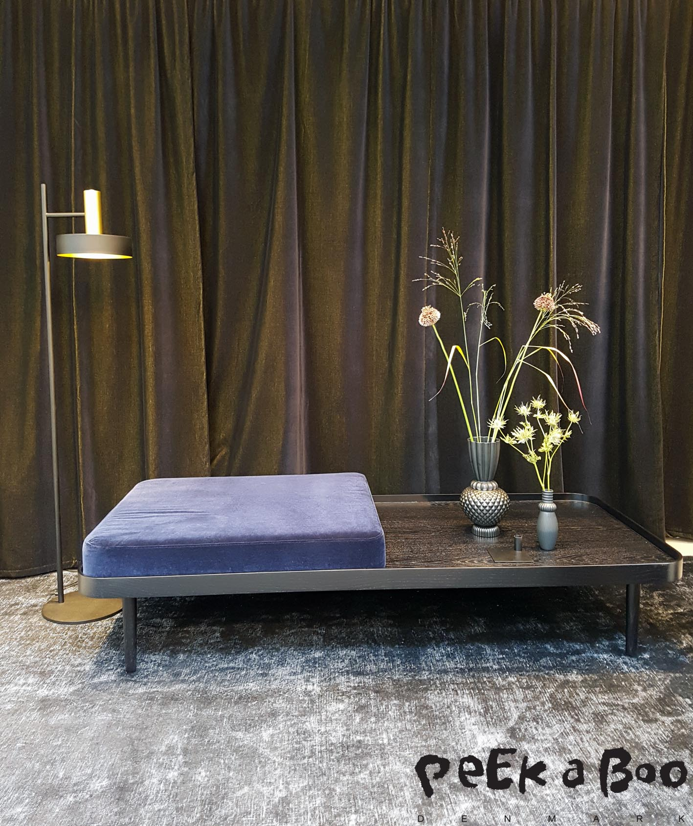 Daybed from by Klip Klap and designed by Charlotte Høncke. The floorlamp is from Rewired and called SL01.