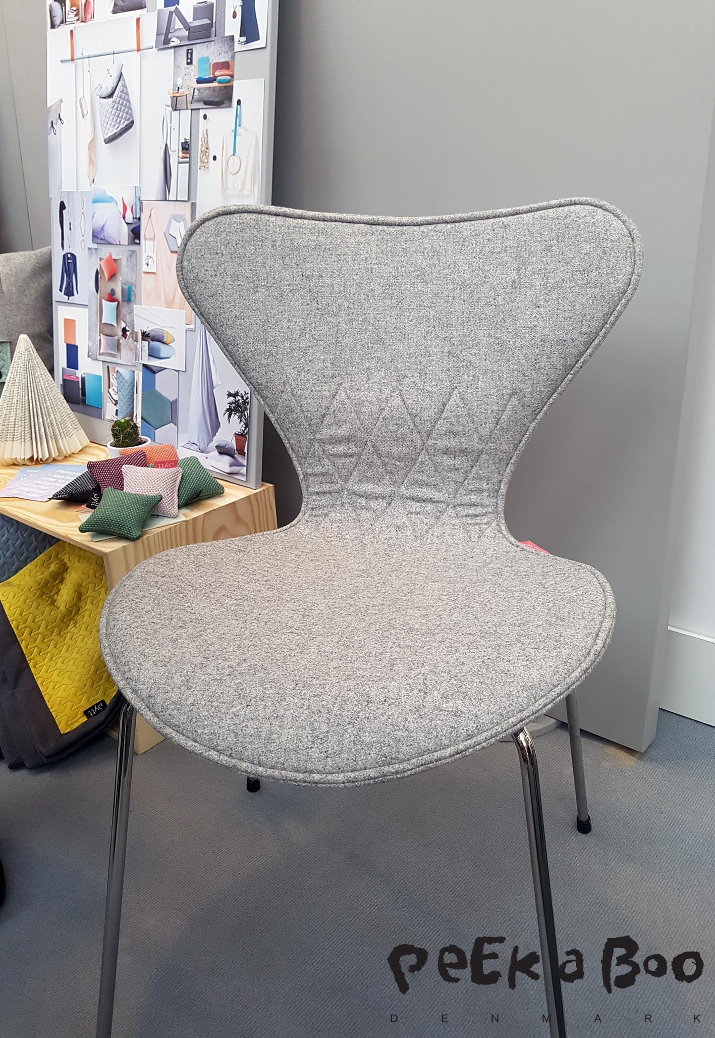 In ever Danish home this 7'er chair by Arne Jacobsen is to be found, now PYTT have made them a full cover, they are absolutely they are absolutely brilliant.