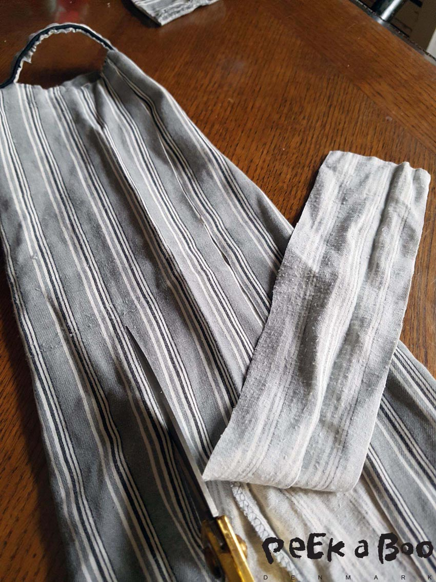 Cut the waistband 7 cm wide and to match the width of the waist.