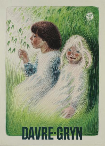 Aage Sikker-Hansens darvrepiger, hvoraf den mørkhårede var hans egen datter Ida.