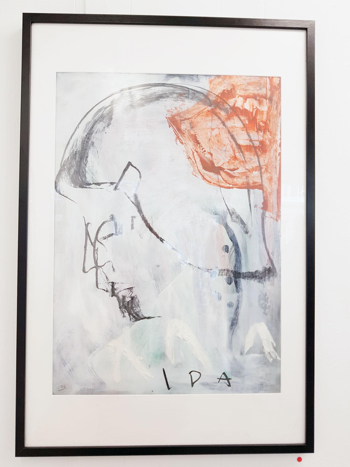 Morten Affelhoey have choosen to paint 4 versions of Sikker-Hansens daughter Ida.